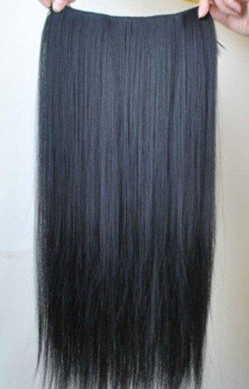 Juodi plauku tresai 60 cm