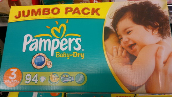 Sauskelnės Pampers Baby dry