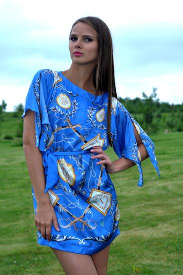 Trumpa šilkinė suknelė