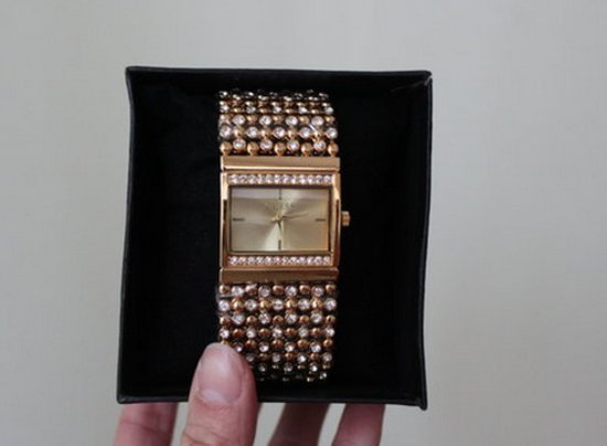 Naujas Guess laikrodis su kristalu apyranke  #3