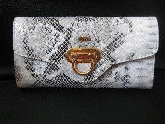 Gyvatės odos spalvos piniginė