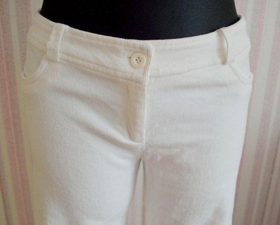Baltos velvetinės kelnes