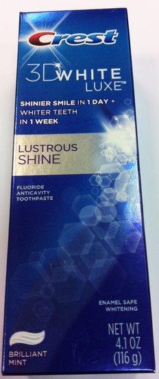 Dantu pasta Crest 3D white Lux Lustrous Shine