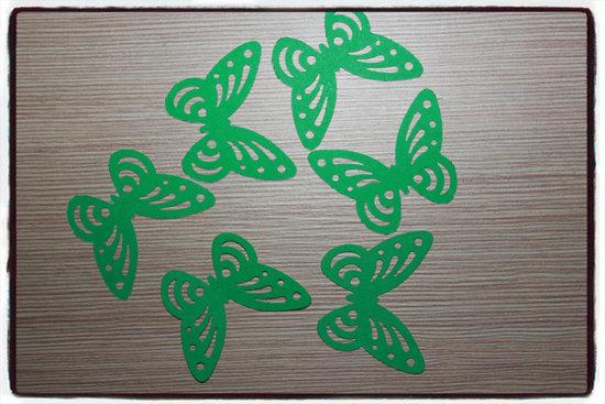 Ažūriniai drugeliai iš popieriaus