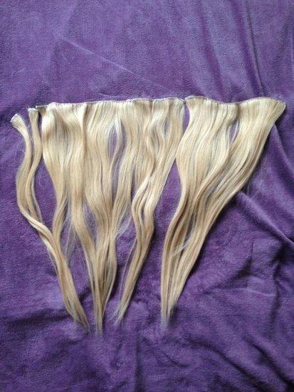 Natūralūs plaukai priauginimui 60cm ilgio