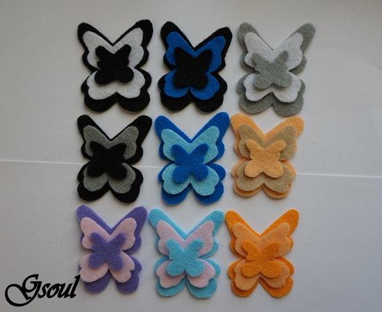 Gumelės į plaukus - drugeliai