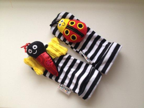 Lamaze barškučiai kojinytės